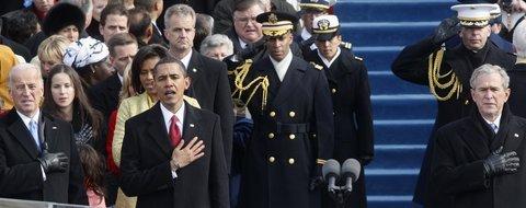 Barack Obama beim Amtseid